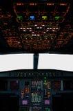 кокпит airbus Стоковое Изображение RF