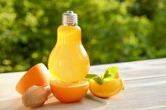 Коктеили лета здоровые не спиртные, цитрус настояли пить воды, лимонады с лимоном известки или апельсин, напитки вытрезвителя дие Стоковое Изображение RF