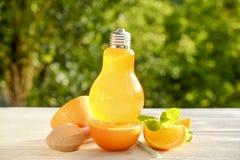 Коктеили лета здоровые не спиртные, цитрус настояли пить воды, лимонады с лимоном известки или апельсин, напитки вытрезвителя дие Стоковые Изображения RF