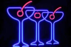 коктеилы неоновые Стоковое фото RF