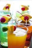 коктеилы цветастые Стоковая Фотография