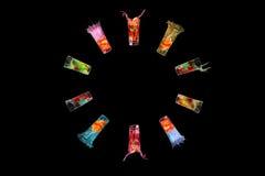 коктеилы цветастые Стоковое Изображение