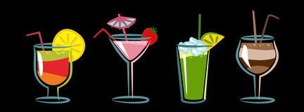 коктеилы бесплатная иллюстрация