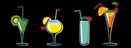 коктеилы иллюстрация вектора