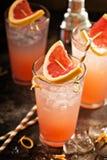 Коктеиль грейпфрута в высокорослых стеклах Стоковая Фотография