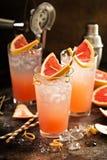 Коктеиль грейпфрута в высокорослых стеклах Стоковое Фото