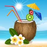 Коктеиль кокоса иллюстрация штока