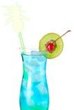 коктеил спирта голубой тропический Стоковое Изображение