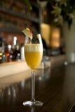коктеил шампанского bellini стоковое изображение rf