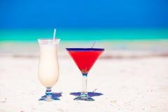 2 коктеила: colada и клубника pina Стоковое Фото