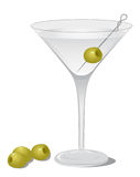 коктеил сухой martini Стоковые Изображения