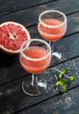 Коктеиль грейпфрута на темной предпосылке Стоковое фото RF