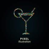 Коктеиль - иллюстрация пиксела Стоковое Изображение