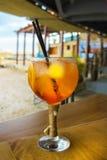 Коктеиль на баре пляжа Стоковые Изображения RF