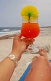 Коктеиль на пляже Крита Стоковое Изображение RF