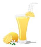 Коктеиль отвертки с куском апельсина Стоковая Фотография