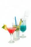 Коктеиль плодоовощ в чашке с straw8 Стоковое Изображение