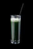 Коктеиль свежих трав в стекле с соломой Стоковые Фото