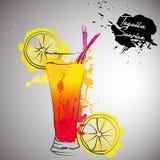 Коктеиль с выплеском цвета Иллюстрация штока