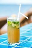 Коктеиль Mojito на бассейне Стоковая Фотография RF