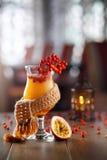 Коктеиль Passionfruit в шарфе Стоковые Фото
