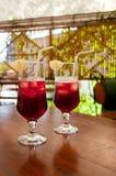 2 коктеиля вишни Стоковые Фото