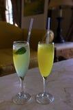 2 коктеиля в высокорослых стеклах. Стоковое Фото