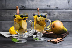 2 коктеиля груш Стоковое Изображение