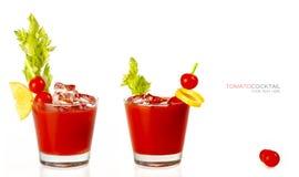 2 коктеиля кровопролитных Mary Стоковые Изображения RF