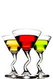 3 коктеиля на белой (изолированной) предпосылке Стоковое Изображение