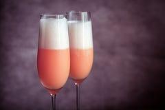 2 коктеиля bellini Стоковое Изображение