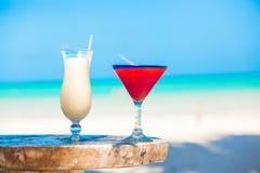 2 коктеиля: colada и клубника pina Стоковое Изображение