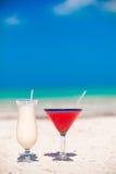 2 коктеиля: colada и клубника pina Стоковые Изображения RF