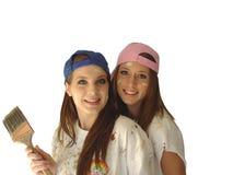 колеривщики девушки Стоковое Изображение RF