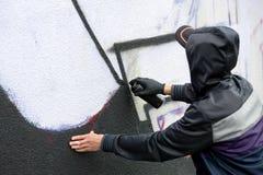 Колеривщик надписи на стенах Стоковое фото RF