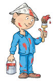 Колеривщик распыленный с красной краской Стоковое фото RF
