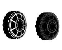 2 колеса автомобиля Стоковое Изображение RF