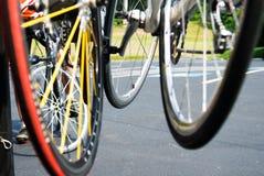 колеса велосипеда близкие Стоковые Изображения