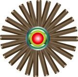 колеса звезды трубы Стоковое Изображение