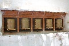 Колеса молитве на монастыре Alchi, Ladakh, Индии стоковые изображения