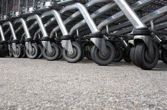 колеса покупкы тележки Стоковые Изображения RF