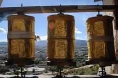 колеса Тибета молитве Стоковое Изображение RF