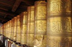 колеса Тибета молитве Стоковая Фотография RF