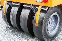 Колеса трактора или ролика paver Стоковое фото RF