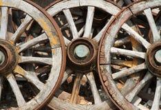 колеса фуры трио тележки старые Стоковое Изображение RF