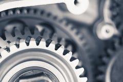 Колеса шестерни двигателя, предпосылка транспорта Стоковое Изображение