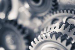 Колеса шестерни двигателя, промышленная предпосылка Стоковое Изображение