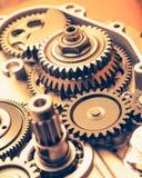 Колеса шестерни двигателя, промышленная предпосылка Стоковая Фотография