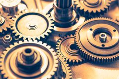 колеса шестерни промышленные Стоковые Изображения