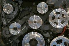 колеса шкивов двигателя стоковая фотография rf